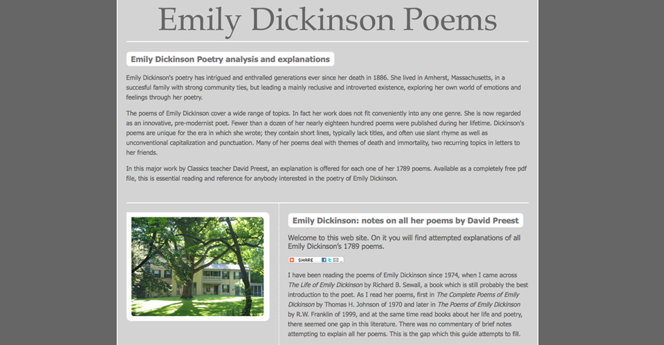 "an analysis of 712 a poem by emily dickinson Death as a ""gentleman-caller"" in ""because i could not stop for death"" ""because i could not stop for death"" is a poem which describes emily dickinson's."