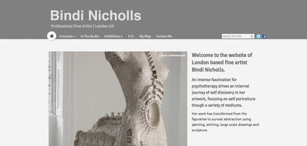 Bindi Nicholls website design