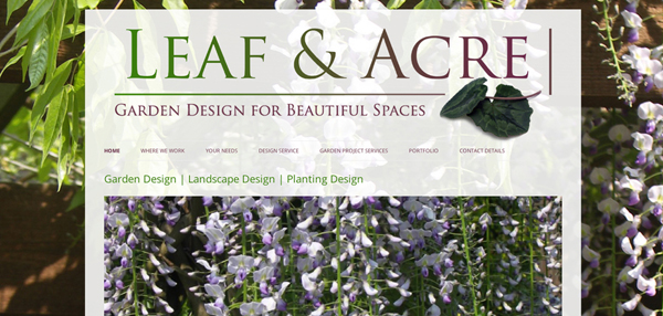 Leaf and Acre website design